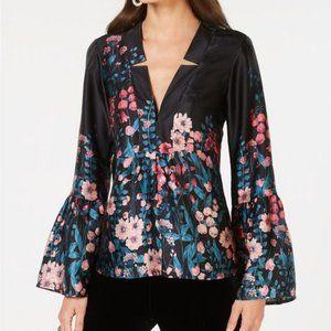 NWT Nanette Lepore silk butter florabelle blouse